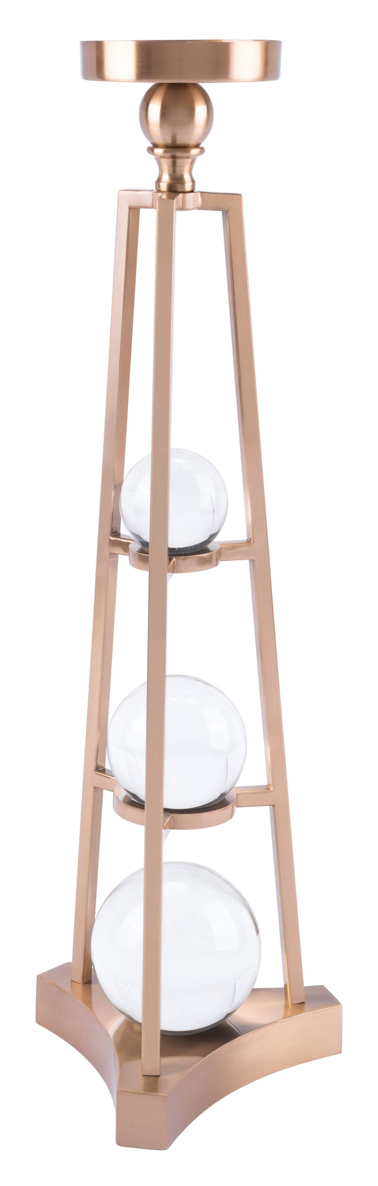 Zuo Modern Candle Holder With Orbs Lg Antique Brass Candle Holder With Orbs Lg Antique Brass LUNAVUE Shapewear