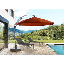 Load image into Gallery viewer, Sun Garden 13 Ft. Cantilever Umbrella or Parasol, the Original from Germany, Cayenne Color Canopy with Bronze Frame
