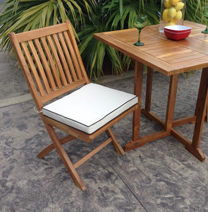 Teak Wood Naples Outdoor Folding Side Chair, set of 2