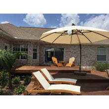 Load image into Gallery viewer, Sun Garden 13 Ft. Easy Sun Cantilever Umbrella and Parasol, the Original from Germany, Indigo Blue Canopy with Bronze Frame