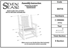 Load image into Gallery viewer, 3 Piece Teak Wood Oceanside Patio Lounge Set with 2 Rocking Chairs and Side Table