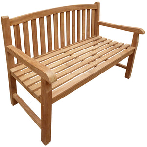 Teak Wood Buenos Aires Oval Outdoor Bench, 4 Foot