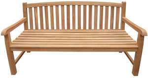 Teak Wood Buenos Aires Oval Outdoor Bench, 5 Foot