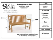 Load image into Gallery viewer, Teak Wood Buenos Aires Oval Outdoor Bench, 5 Foot
