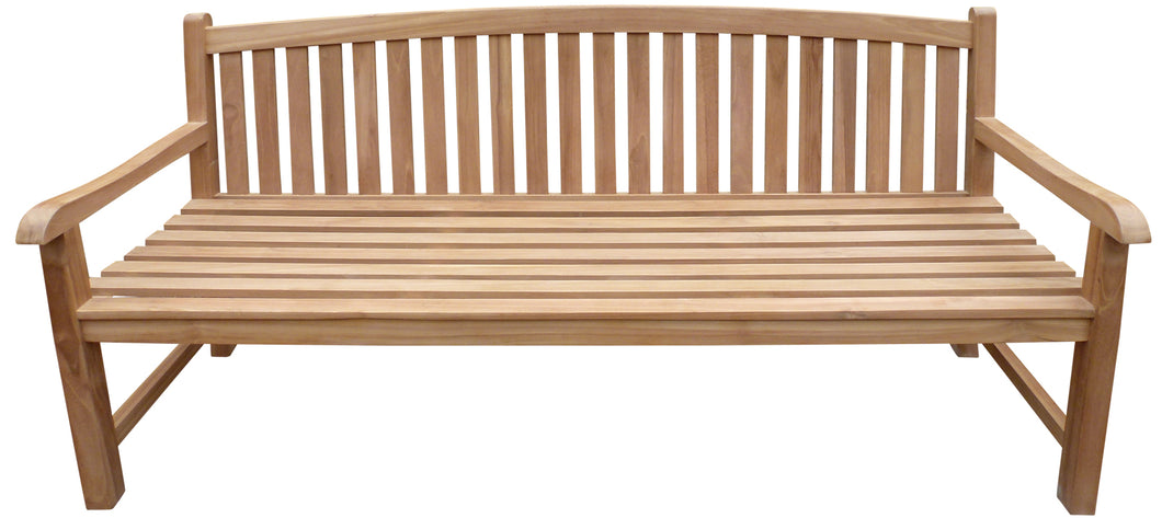 Teak Wood Buenos Aires Oval Outdoor Bench, 6 Foot