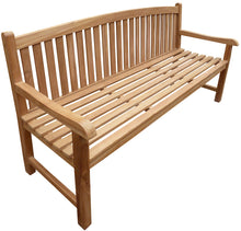 Load image into Gallery viewer, Teak Wood Buenos Aires Oval Outdoor Bench, 6 Foot