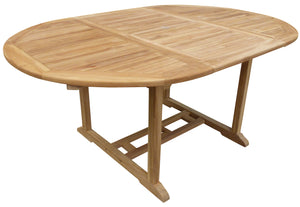 Teak Wood Ocean Beach Round Outdoor Extension Table