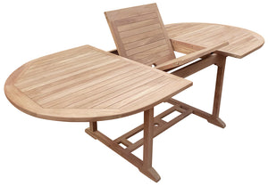 Teak Wood Hawaii Oval Outdoor Extension Table