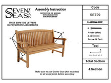 Load image into Gallery viewer, Teak Wood Acapulco Teak Outdoor Bench, 5 Foot
