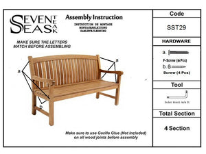 Teak Wood Acapulco Teak Outdoor Bench, 5 Foot