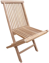 Load image into Gallery viewer, Teak Wood Seaside Outdoor Folding Side Chair, set of 2