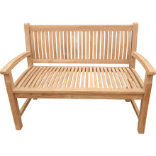 Load image into Gallery viewer, Teak Wood El Mar Teak Outdoor Bench, 4 Foot