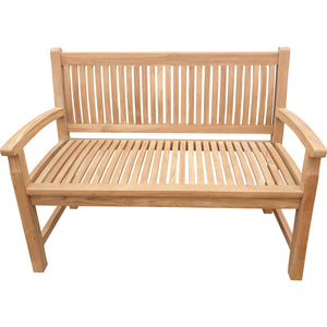 Teak Wood El Mar Teak Outdoor Bench, 4 Foot