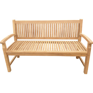 Teak Wood El Mar Teak Outdoor Bench, 5 Foot