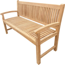 Load image into Gallery viewer, Teak Wood El Mar Teak Outdoor Bench, 5 Foot