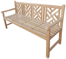 Load image into Gallery viewer, Teak Wood Saint Thomas Outdoor Bench, 6 Foot