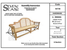 Load image into Gallery viewer, Teak Wood Marlborough Outdoor Bench, 6 foot