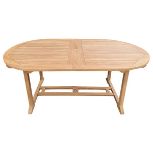 Teak Wood Alexandra Oval Double Extension Table, 71 to 94 inch