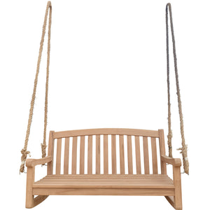 Teak Wood San Jose Double Outdoor Porch Swing, 4 foot