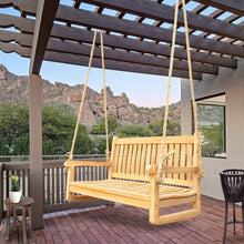 Load image into Gallery viewer, Teak Wood San Juan Double Outdoor Porch Swing, 4 foot