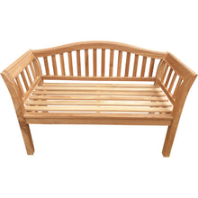 Load image into Gallery viewer, Teak Wood Oklahoma Outdoor Patio Bench, 4 Foot