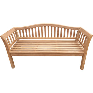 Teak Wood Oklahoma Outdoor Patio Bench, 5 Foot