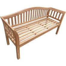 Load image into Gallery viewer, Teak Wood Oklahoma Outdoor Patio Bench, 5 Foot