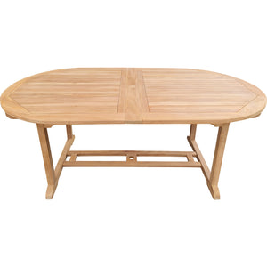 Teak Wood Santa Cruz Oval Double Extension Dining Table, 78 to 118 inches