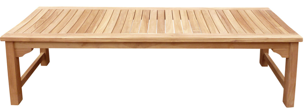 Teak Wood Ocean City Outdoor Backless Bench, 6 Foot