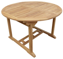 Load image into Gallery viewer, Teak Wood Ocean Beach Round Outdoor Extension Table