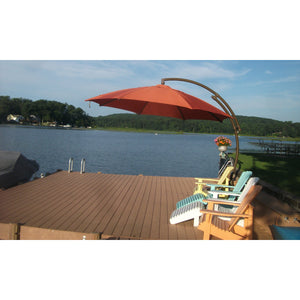 Sun Garden 13 Ft. Cantilever Umbrella or Parasol, the Original from Germany, Natural Color Canopy with Bronze Frame