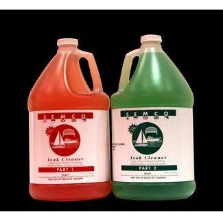 Semco Teak Wood Cleaner Gallon - 2 Part Set
