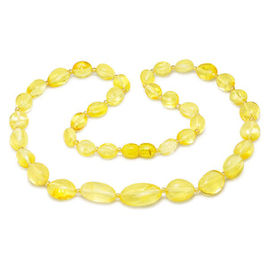 collar ambar color limon
