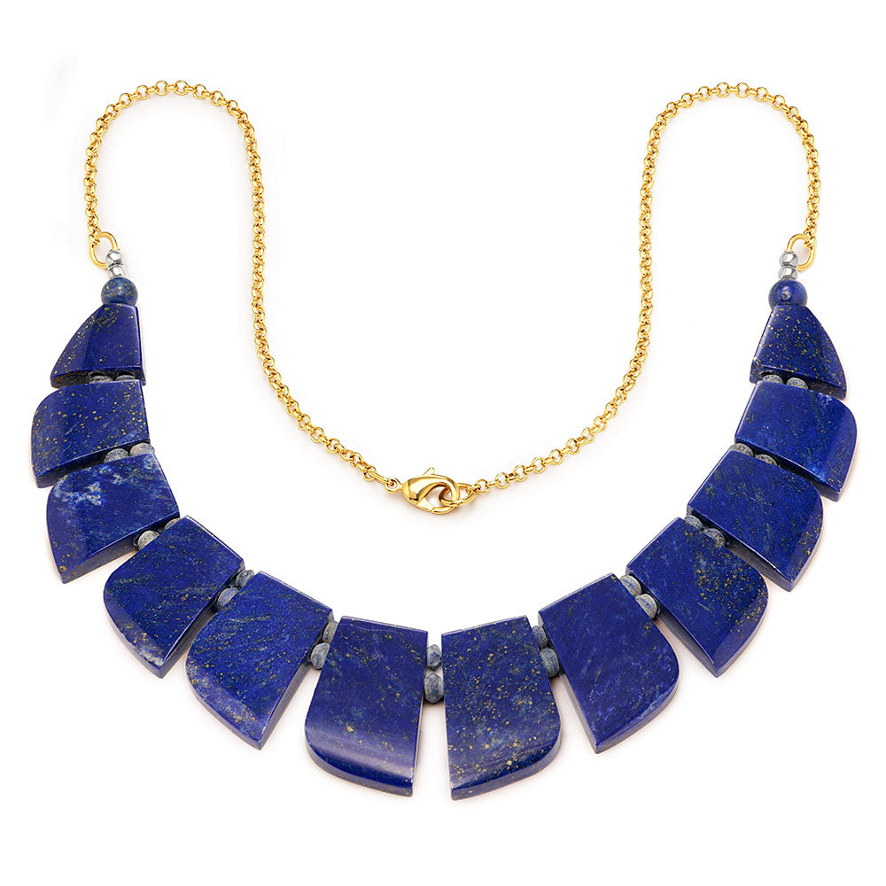 collar mediano rectangulos lapislazuli