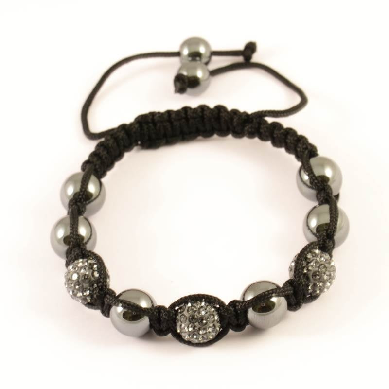 Pulsera Bolas Color Diamante Negro