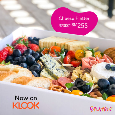 Splatter Cheese Platter KL KLOOK Promotion