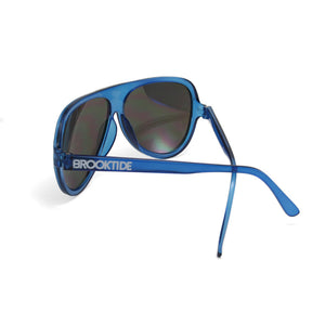 Frosted Blue / Mirror Original Crossed Temples
