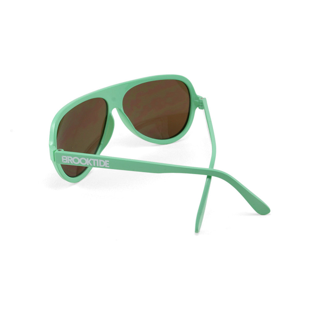 Seafoam Green / Amber Original Crossed Temples