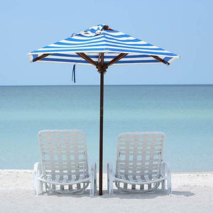 beach chairs and umbrella for rental