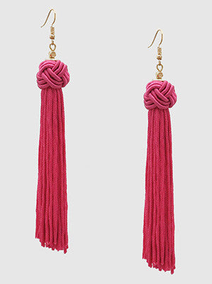 Whitney Braided Tassel Earrings