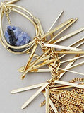 Blue Jay Gold Clustered Drop Necklace