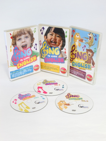 SING to LEARN English 3-in-1 3-DVD Bundle