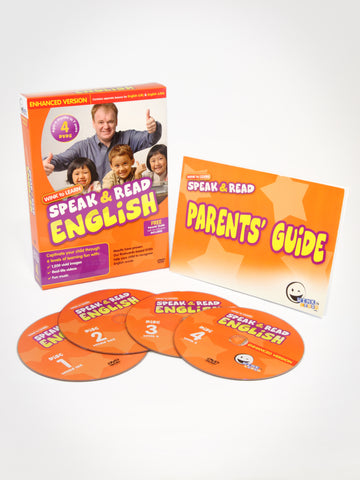 Speak & Read English 4-DVDs Program (Includes USA & UK English)