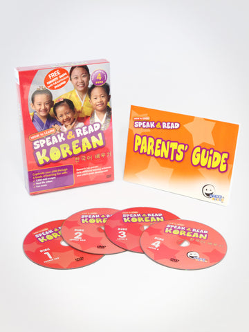(Buy 1 Get 1 Free) Speak & Read Korean 4-DVDs Program
