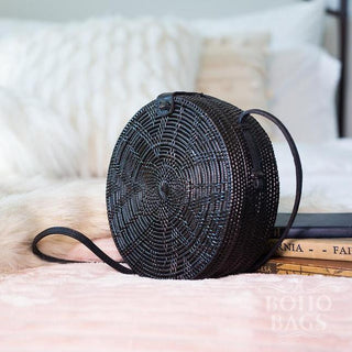 Rattan Bag (Medium) - Black Sling