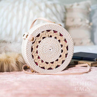 Rattan Bag (Medium) - White Braids