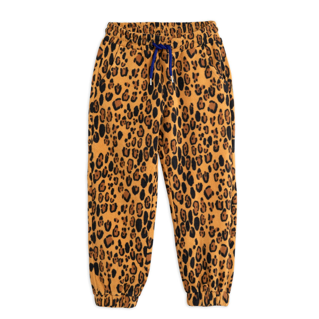 Leopard Fleece Trousers by Mini Rodini - Petite Belle