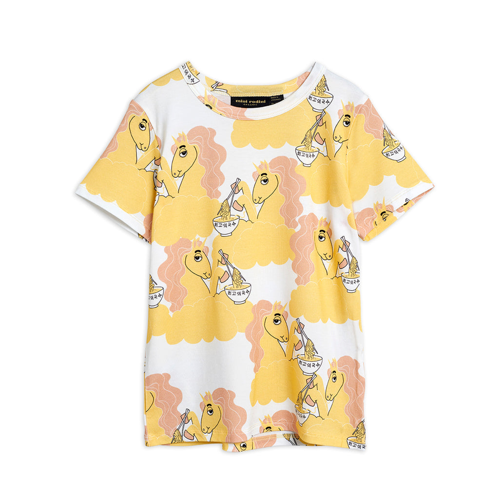 Yellow Unicorn Noodles Tee by Mini Rodini - Petite Belle
