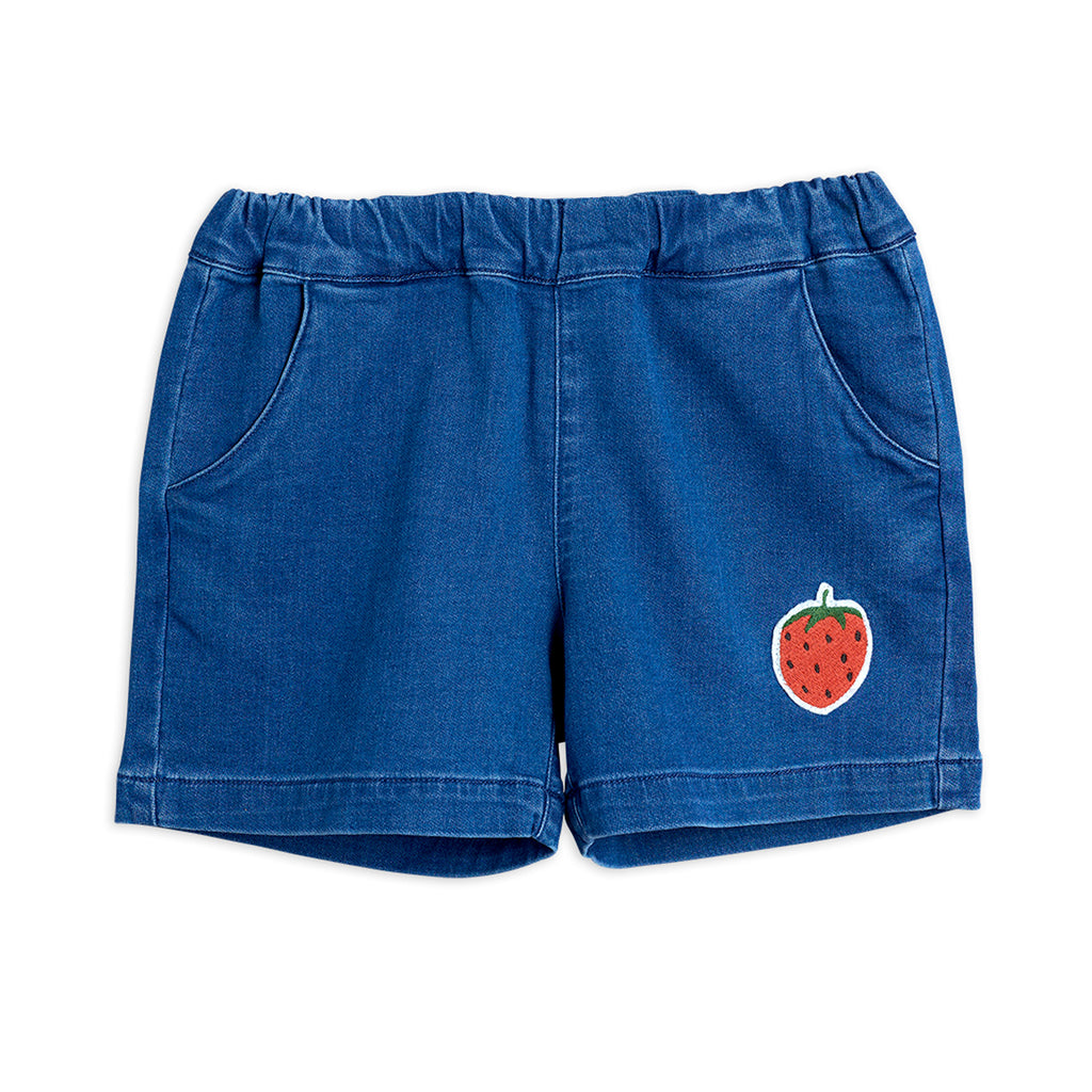 Denim Strawberry Shorts by Mini Rodini - Petite Belle