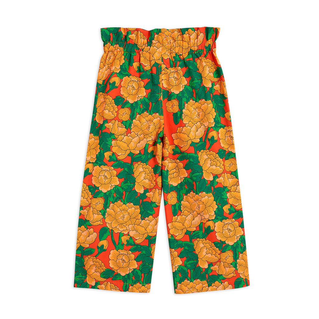 Peonies Woven Paper Bag Trousers by Mini Rodini - Petite Belle